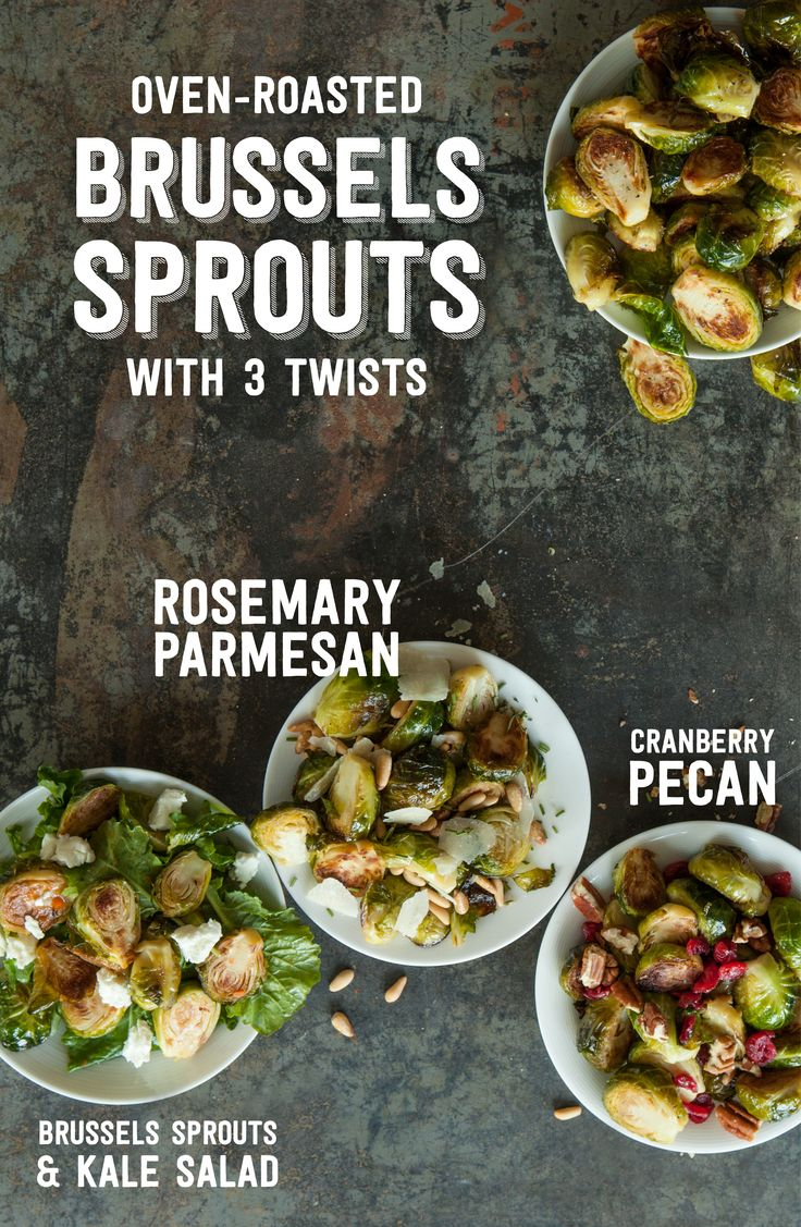 Once you know how to roast Brussels Sprouts, there are so many different ways to enjoy them!  Cranberries & Pecans, Rosemary &