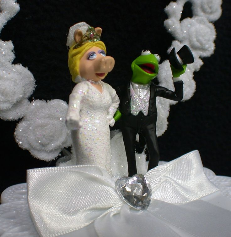 Kermit And Miss Piggy Cake Toppers Dream Wedding