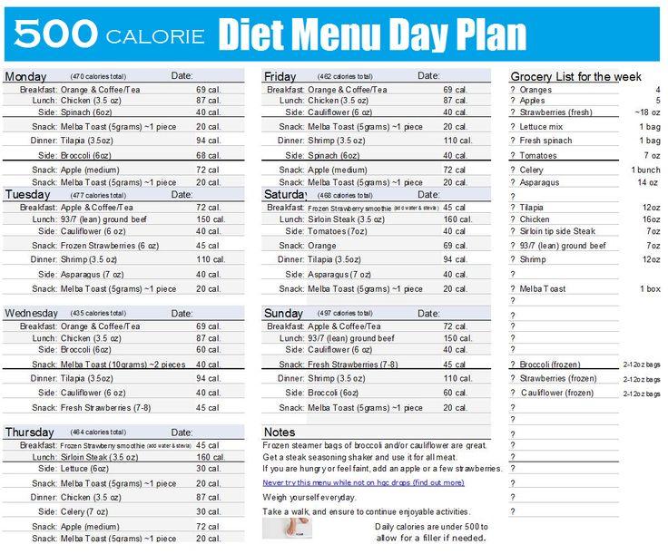 500 Calorie Diet Menu Plan Weight Watching Recipes