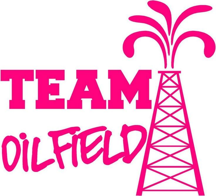 Sweet Heart Tee's Team Oilfield Decal Loves the