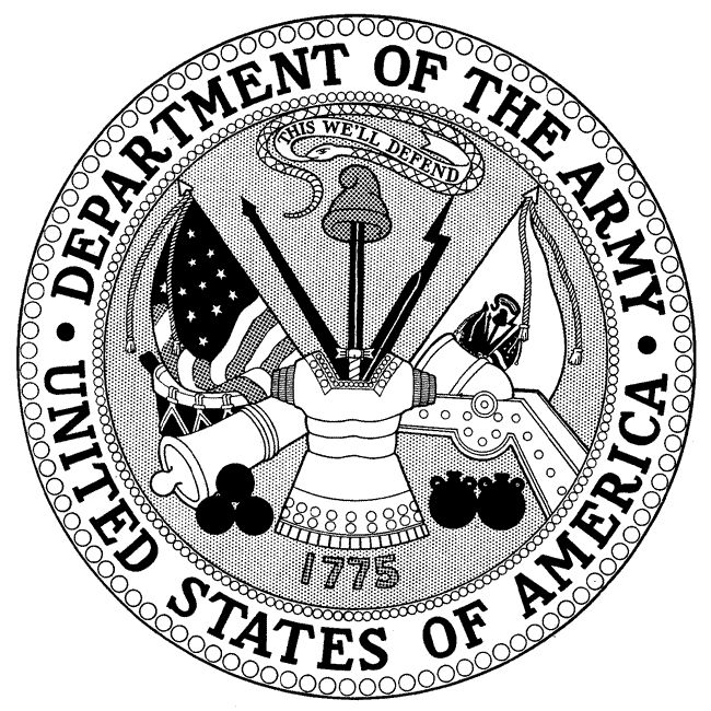 army drawing designs Department of the Army Seal, and