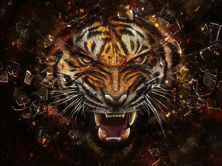 3D Animals Free Download High quality tiger 3D Animals