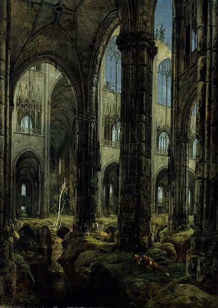 Carl Blechen Eglise Gothique En Ruine 1826 Huile Sur
