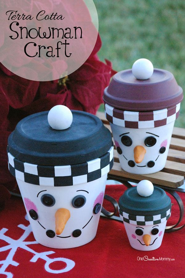 Terra Cotta Snowman Craft Cheap Gifts Cheer And Christmas
