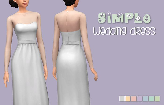 18 Best Images About Sims 4 Wedding Dresses On Pinterest