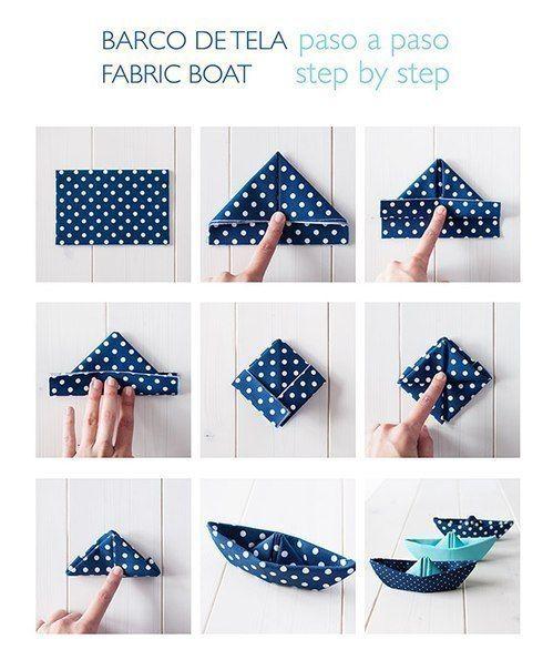 Comment faire un bateau en papier (ou en tissu) qui flotte vraiment ! #origami