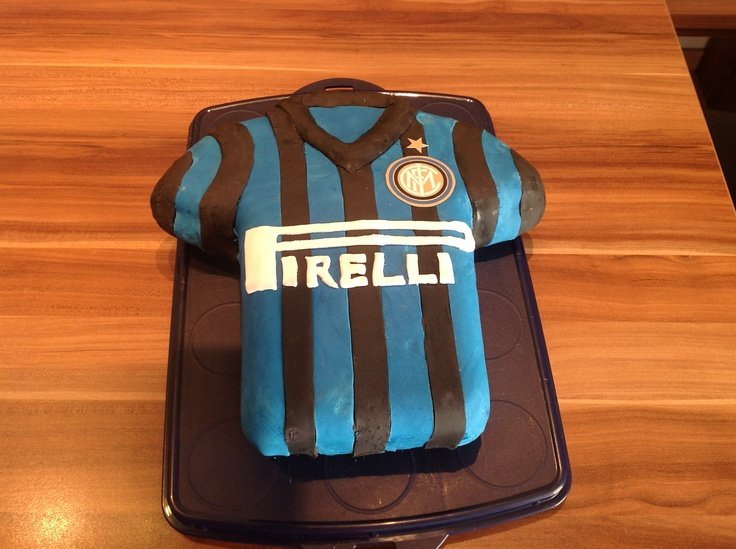 Inter Milan cake Cake decorating ideas Pinterest