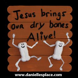 Journey through the old testament ezekiel and the dry for Jesus is alive craft ideas