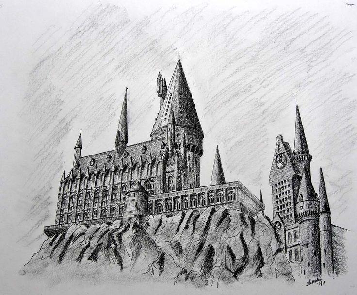 Hogwarts castle drawing Interesting stuff Pinterest