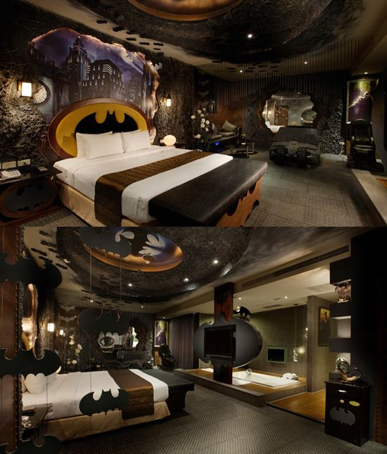 Cool nerdy bedrooms…I want the Batcave one minus all the hanging bats,