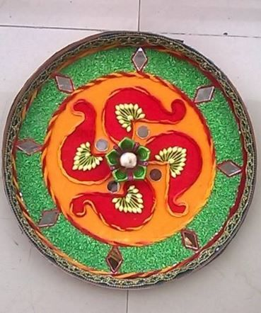 17 Best Images About Pooja Ki Thali And Aarti Ki Thali On Pinterest Festivals Circles And Wedding