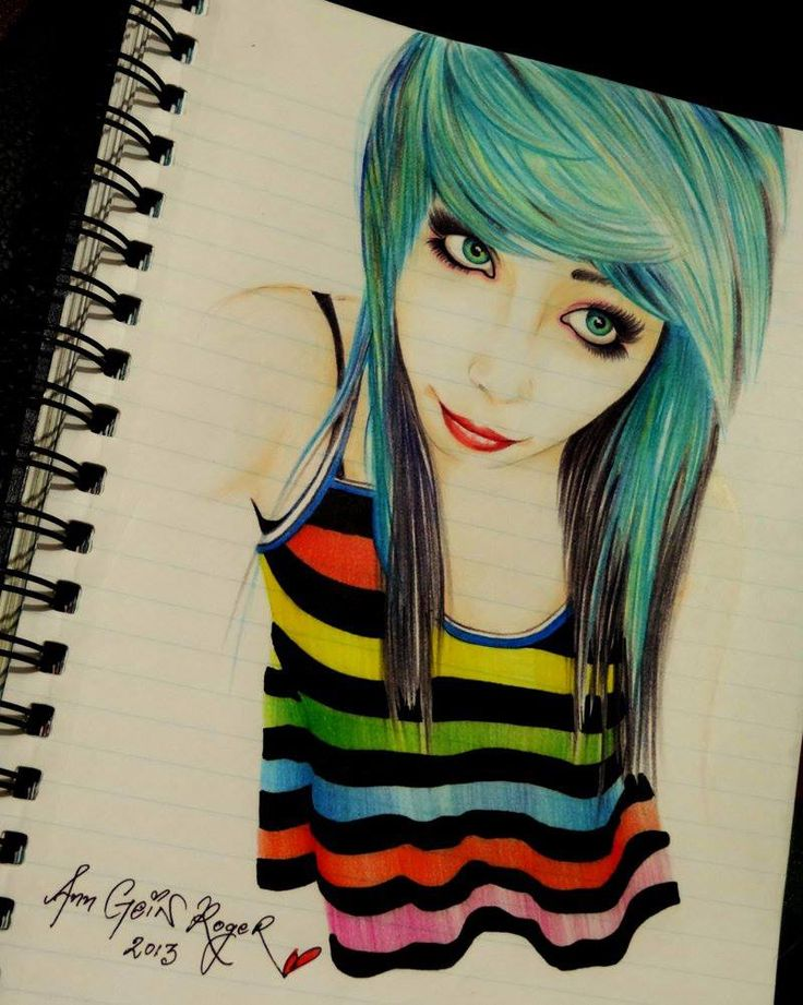 Amazing Scene Girl Drawing! Tattoos Pinterest Love