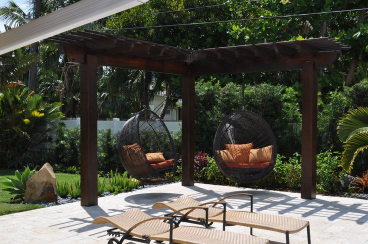 Hanging Chairs Pergolas And Chairs On Pinterest
