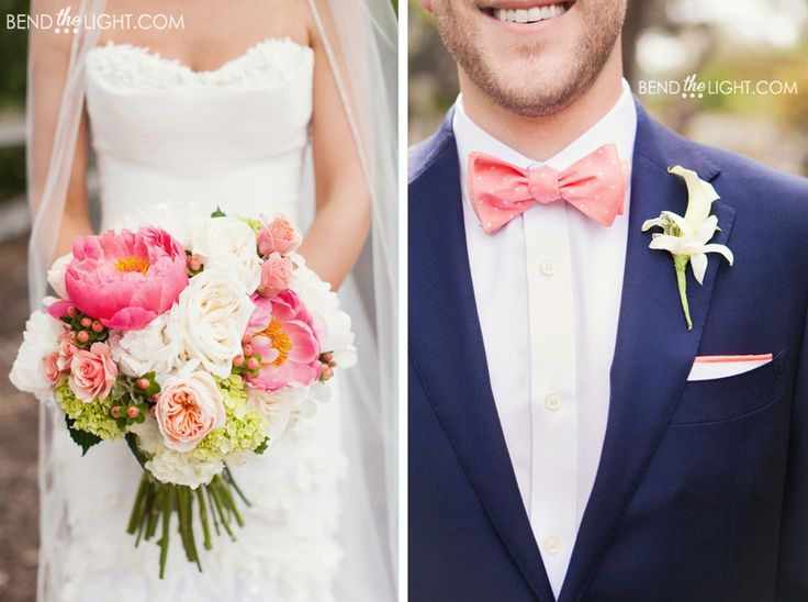 28-pink-coral-navy-blue-wedding-color-scheme-hyatt-hill