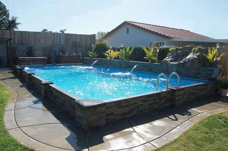48 Best Images About Semi Inground Pools On Pinterest