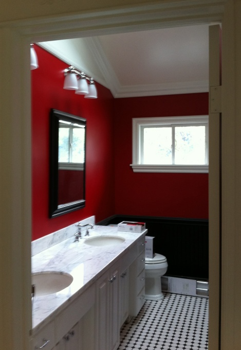 1000 Images About Red Crimson Burgundy Bathrooms On