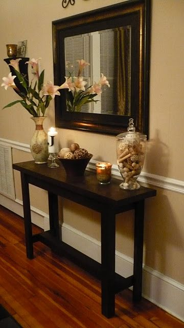 I might just end up doing this since I cant seem to find a console table I LOVE. diy console table
