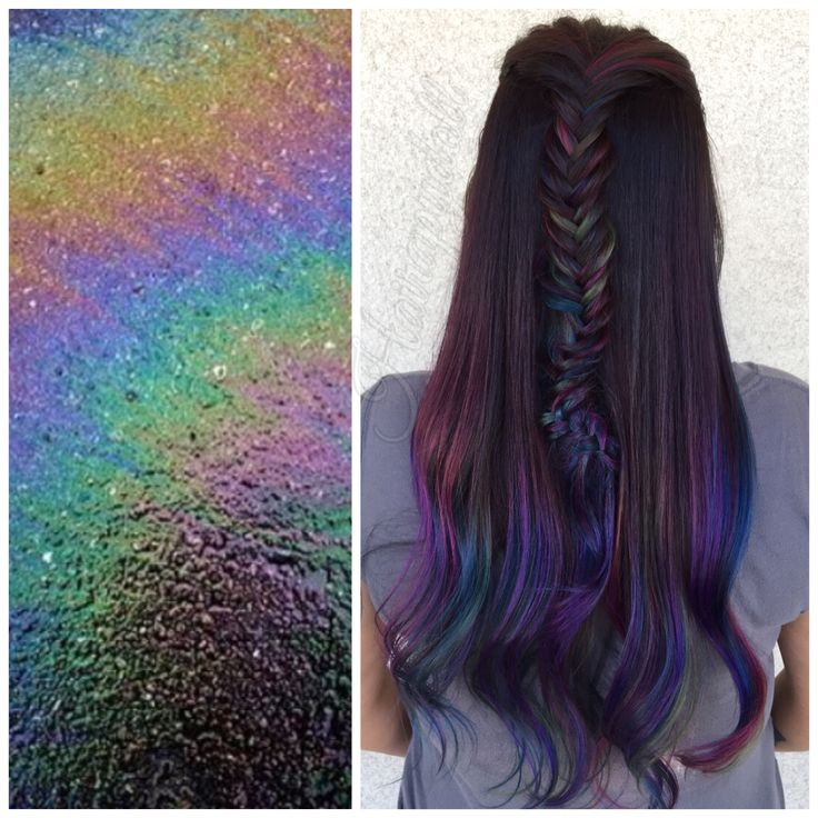 Oil Slick Balayage By Monicaprusa Hair By Me