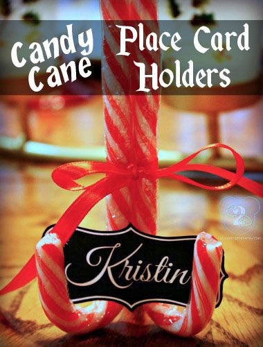 These Cute Candy Cane Place Card Holders Are SO Easy To