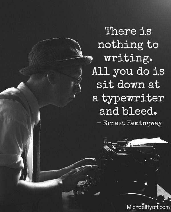 Hemingway on writing . . . #quote