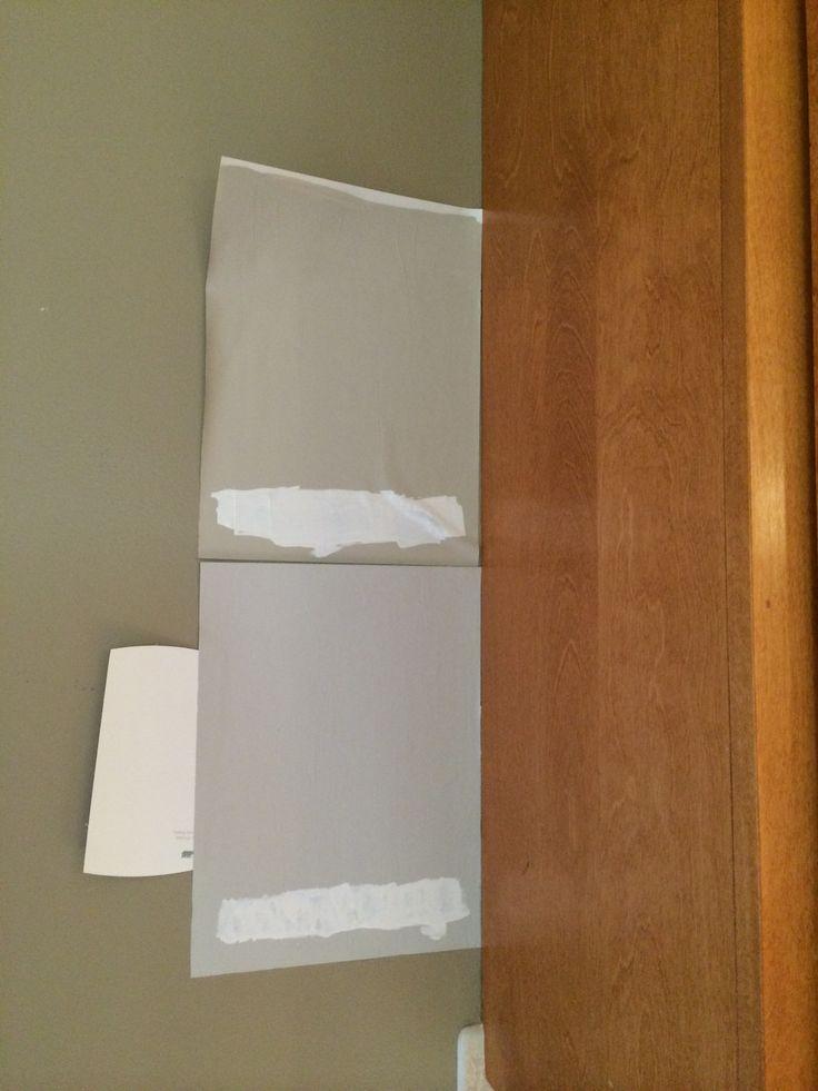 Revere Pewter Vs Stonington Gray Against Kitchen Cupboards