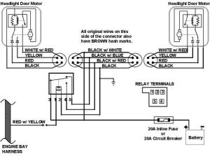 67 Camaro headlight Wiring Harness Schematic | This is the