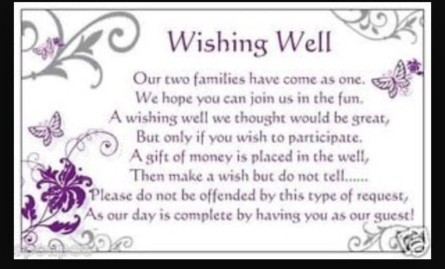25 Best Ideas About Wishing Well Poems On Pinterest Wishing Well Wedding Wedding Invitation