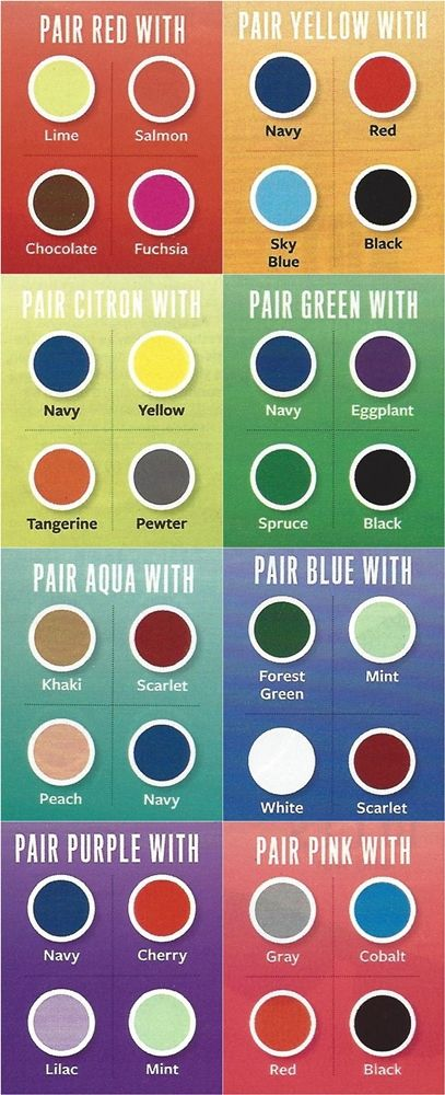 Here's a handy chart to discover colours that can be worn together.