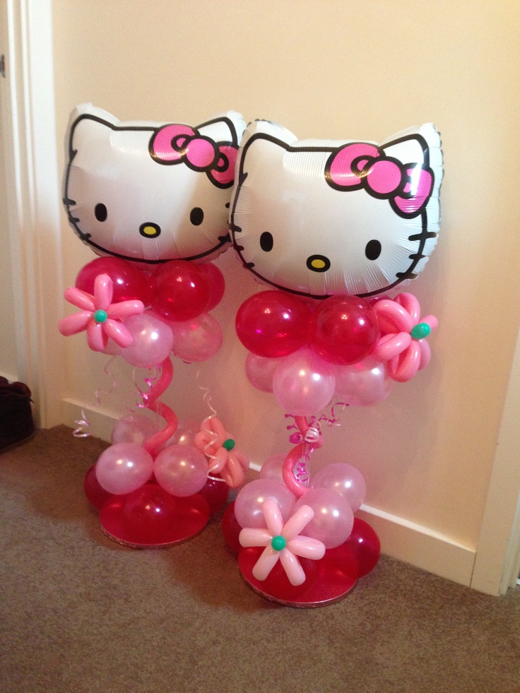 Hello Kitty balloon decorations Balloons Pinterest