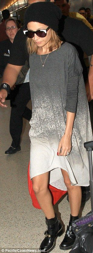 Nicole Richie…boots and grey