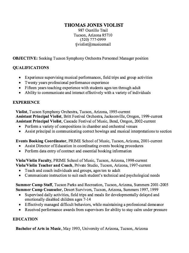 Musician Resume Sample. Sample Resume For College Application 3
