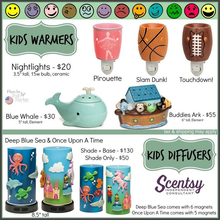 Scentsy kids collection warmers and diffusers Scentsy