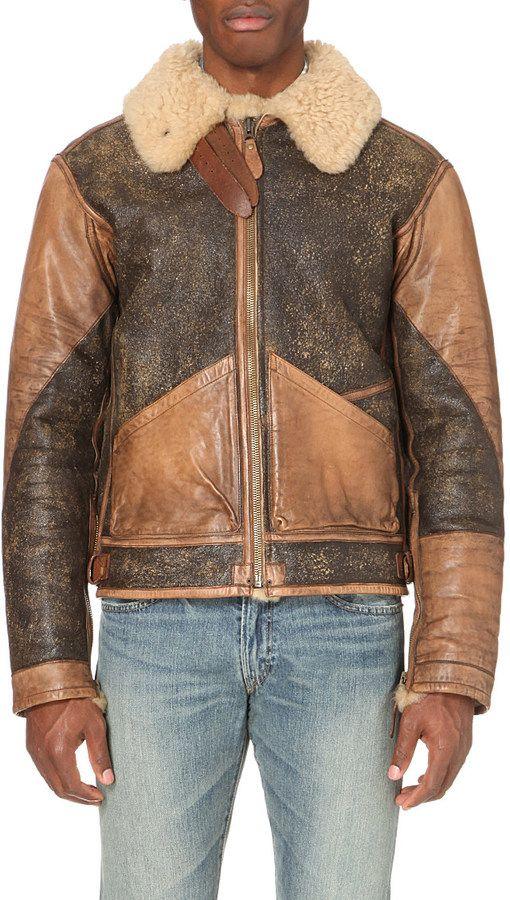 Ralph Lauren Shearling Bomber Jacket for Men Shearling