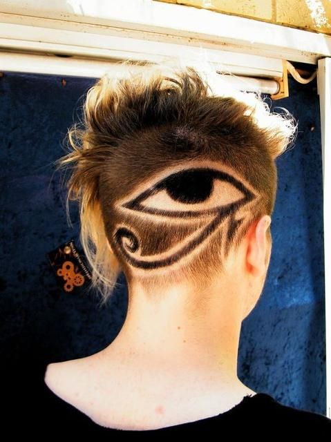 Hair Tattoo Of The Eye Of Horus Firstly Shaved And Then