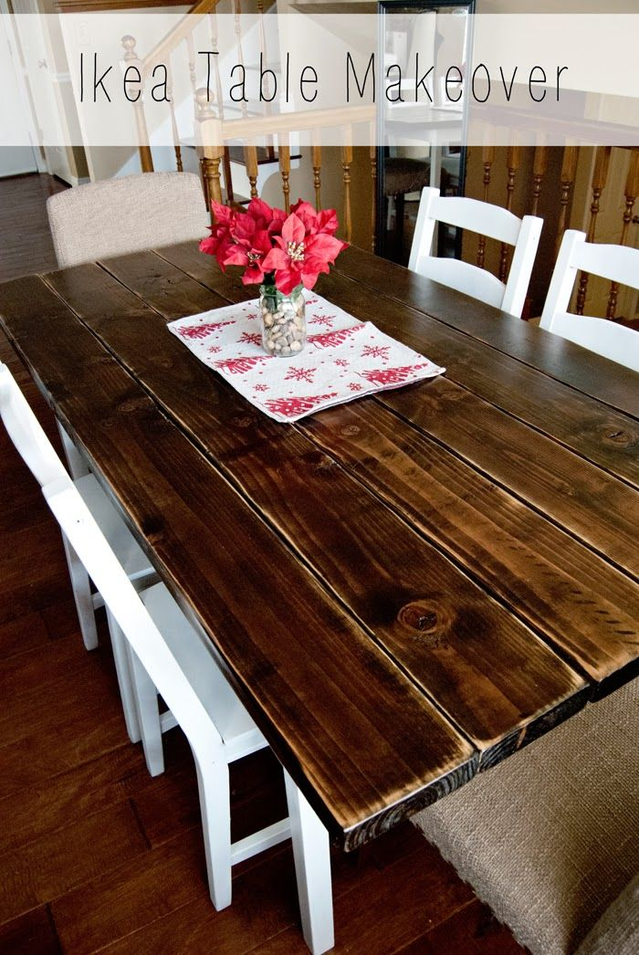 Check Out This Farmhouse Style Makeover Of A JOKKMOKK Dining Set DIY Pinterest Cat Hair