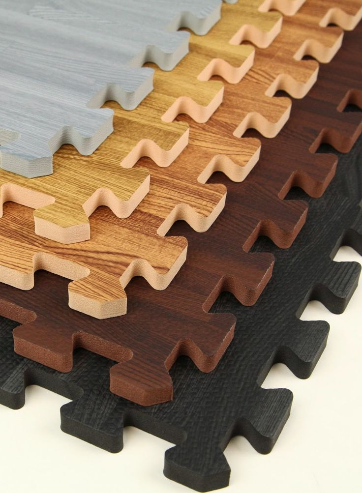 Interlocking Faux Wood Puzzle Mats much nicer in a kid's