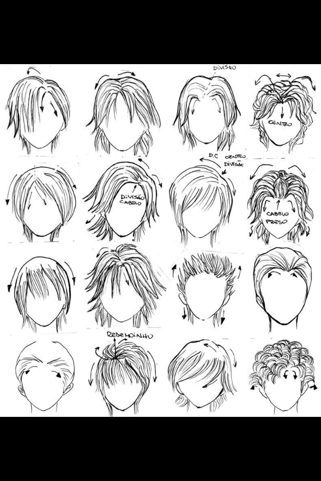 Anime hairstyles Anime hair styles Pinterest Anime