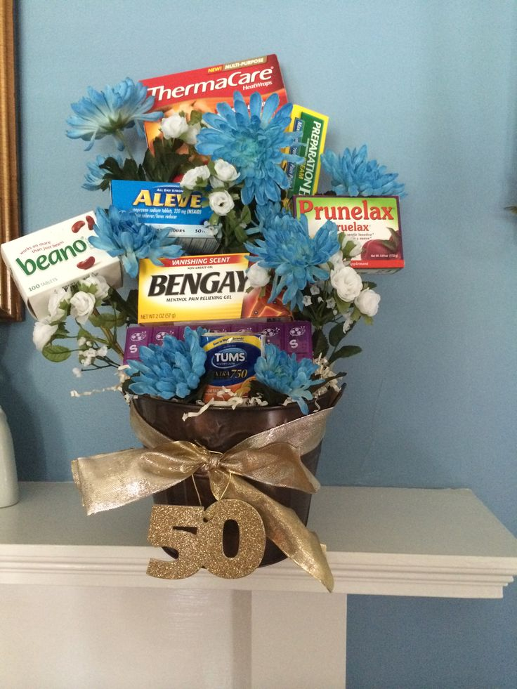 Over The Hill Gag Gift Basket Gift Ideas Pinterest