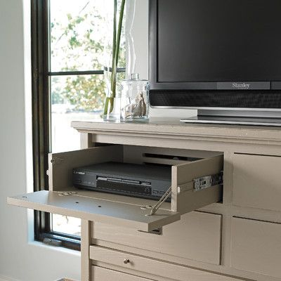 Genius Drawer To Hide Tv Cable Box Olive Home Table