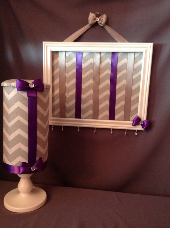 2 PIECES. Chevon headband AND frame bow holder SET by Babygscloset