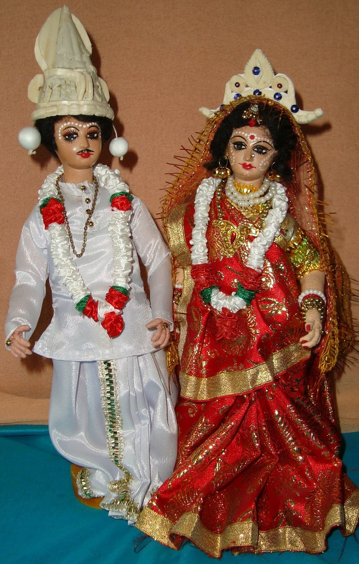 Bengali bride groom dolls. Hello Dolly Pinterest