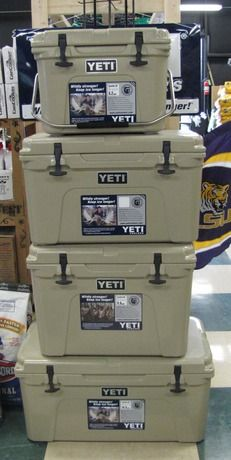 We Have Yeti Coolers In All Sizes Perfect For Anyone Yeti Coolers Our Favorite Products