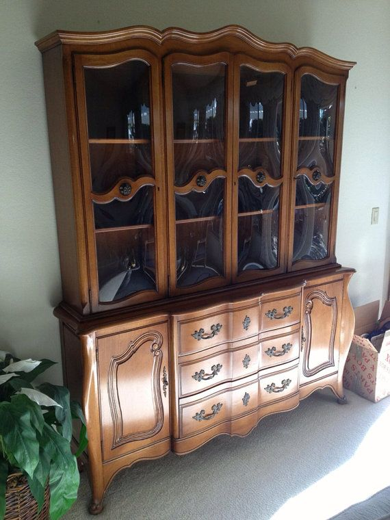 Vintage French Provincial Buffet And Hutch China Cabinet Vintage French Provincial And French
