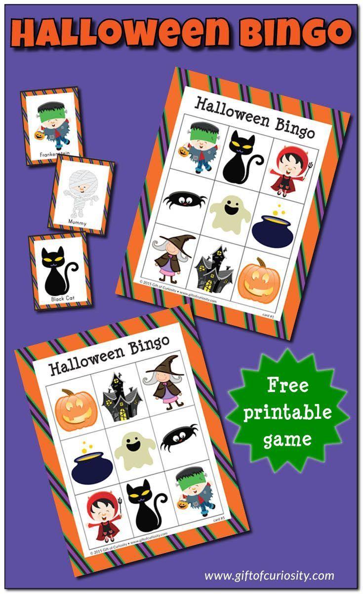 Halloween Bingo game {free printable Bingo, I love and