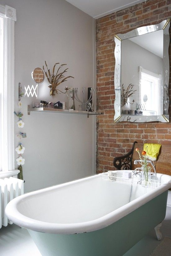 25 Best Ideas About Brick Bathroom On Pinterest Brick Veneer Wall Brick Accent Walls And