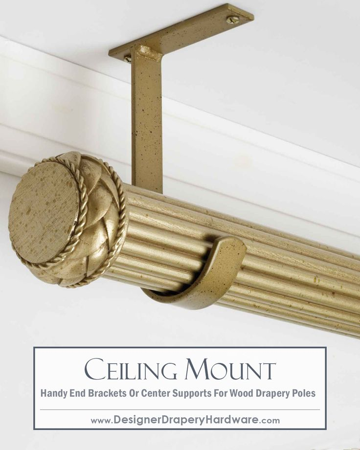 unfinished wooden curtain rod wall brackets