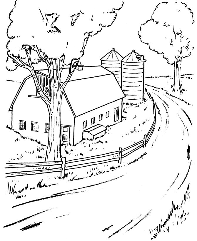 Beautiful scenery coloring page for kids 4   820x670