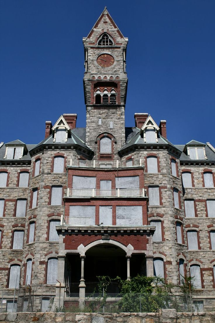 Worcester State Hospital, MA. Built in 1870, opened in