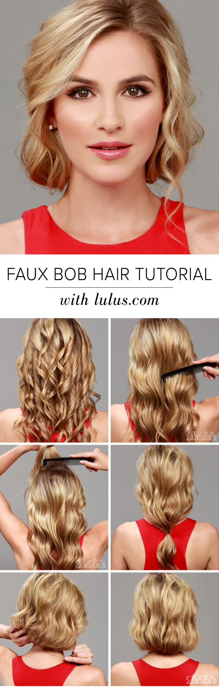 Are you loving the bob trend, but hate the thought of parting with your long tresses? Give our Faux Bob Hair Tutorial a try and