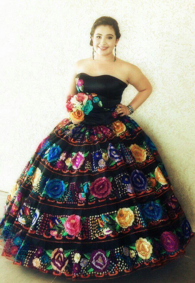 Wedding Dress Black Traditional Spanish